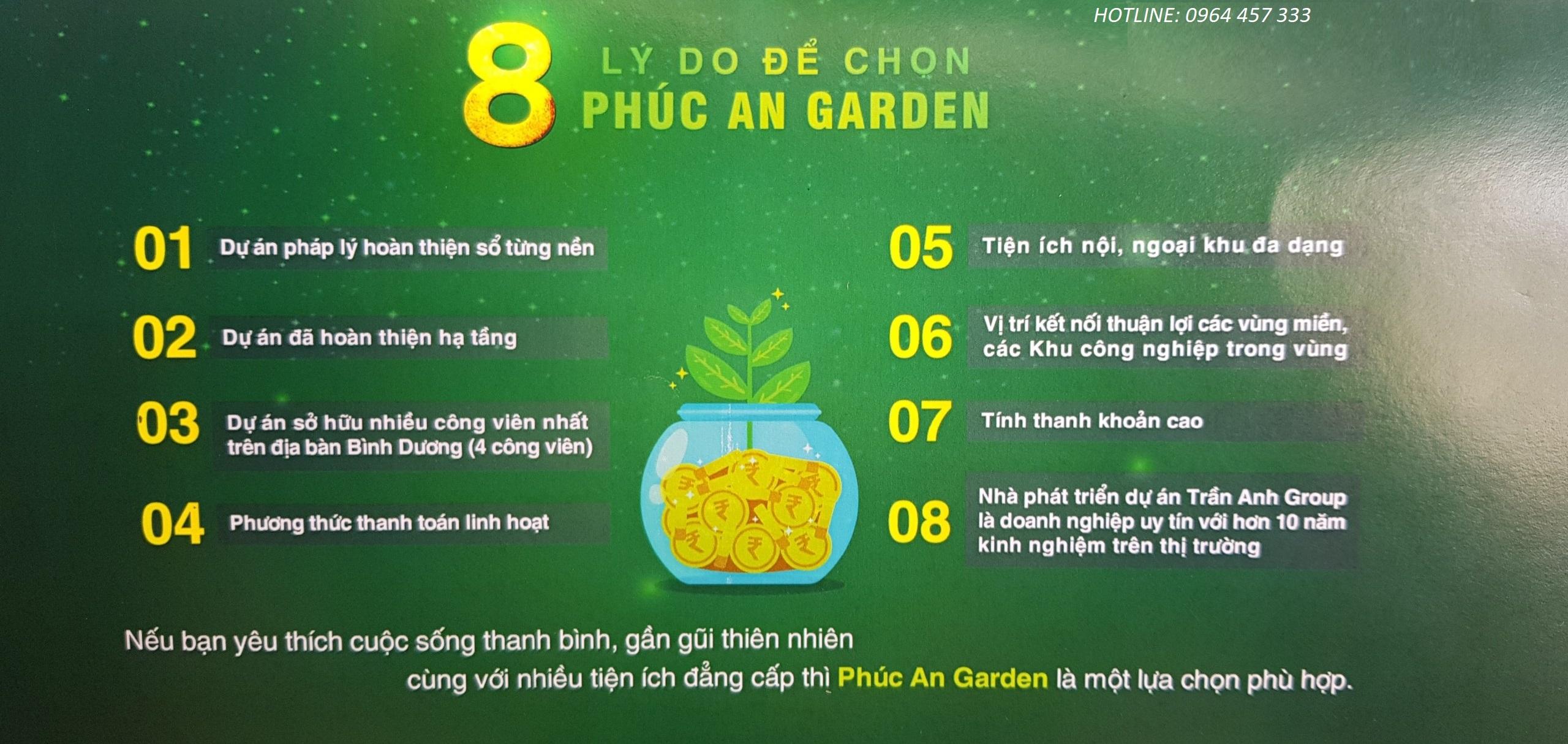 8 lý do để chọn phúc an Garden